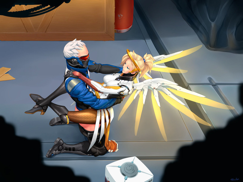 Mercy Overwatch Fucked By Soldier 76