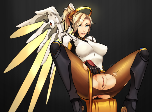 Mercy shows pussy