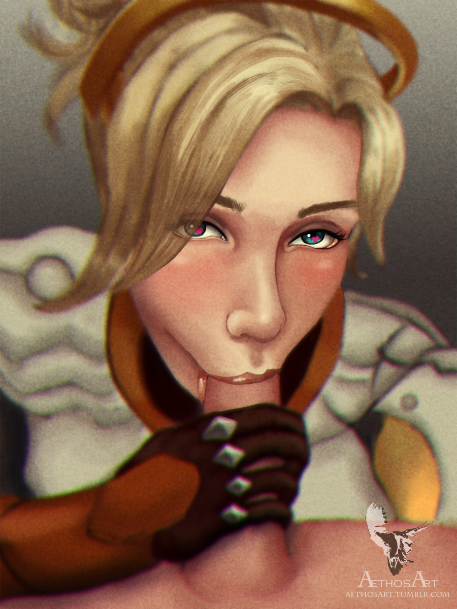 Overwatch Mercy Blowjob POV
