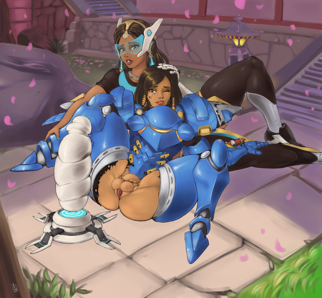 Pharah futanari ready for masturbation