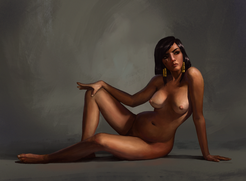 Pharah naked art