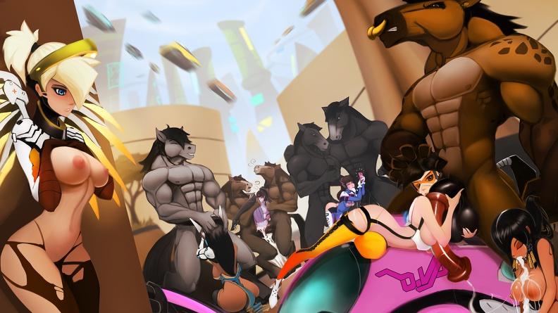 Pharah orgy