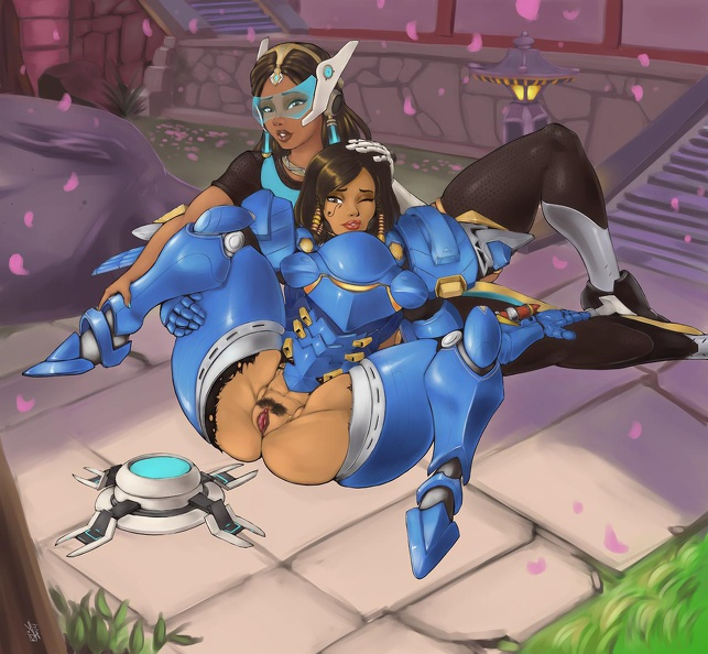 Pharah showing pussy