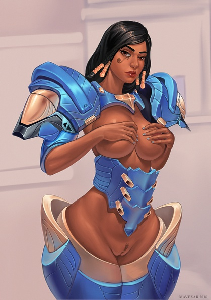 Pharah with armor on