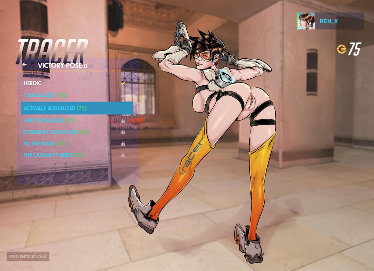 Tracer doggystyle naked