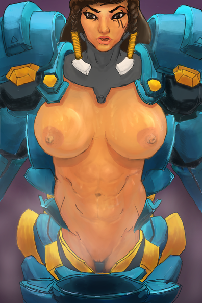 big boobs Pharah shows off