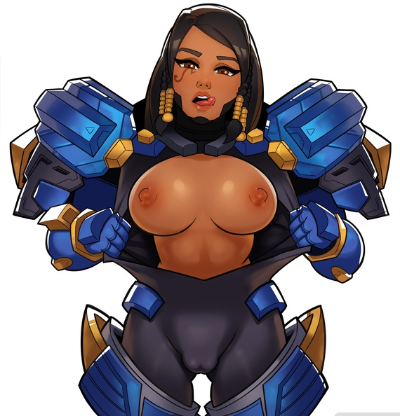big tits Pharah wants cock