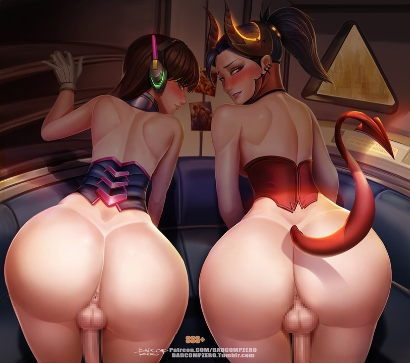 d.va and widowmaker futanari