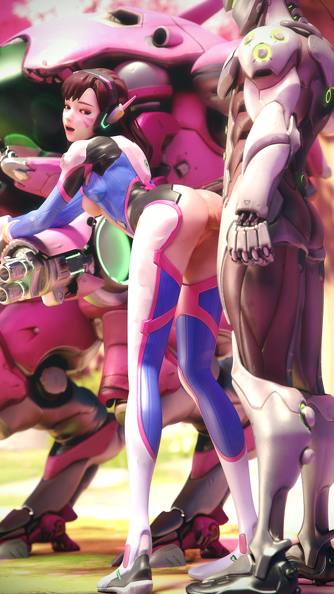 d.va doggystyle sex outdoor