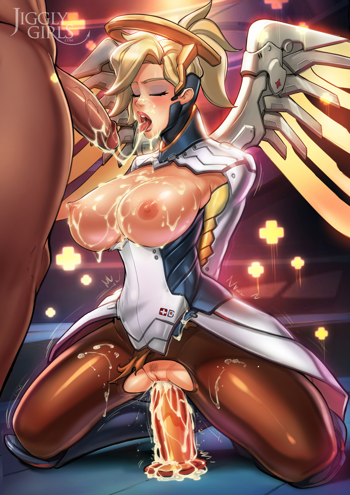 Mercy Jizzed Hard