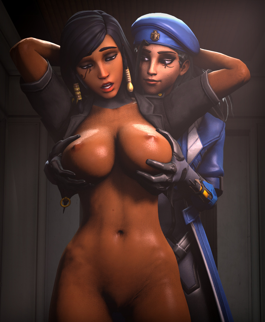Ana Amari and Big Tits Pharah
