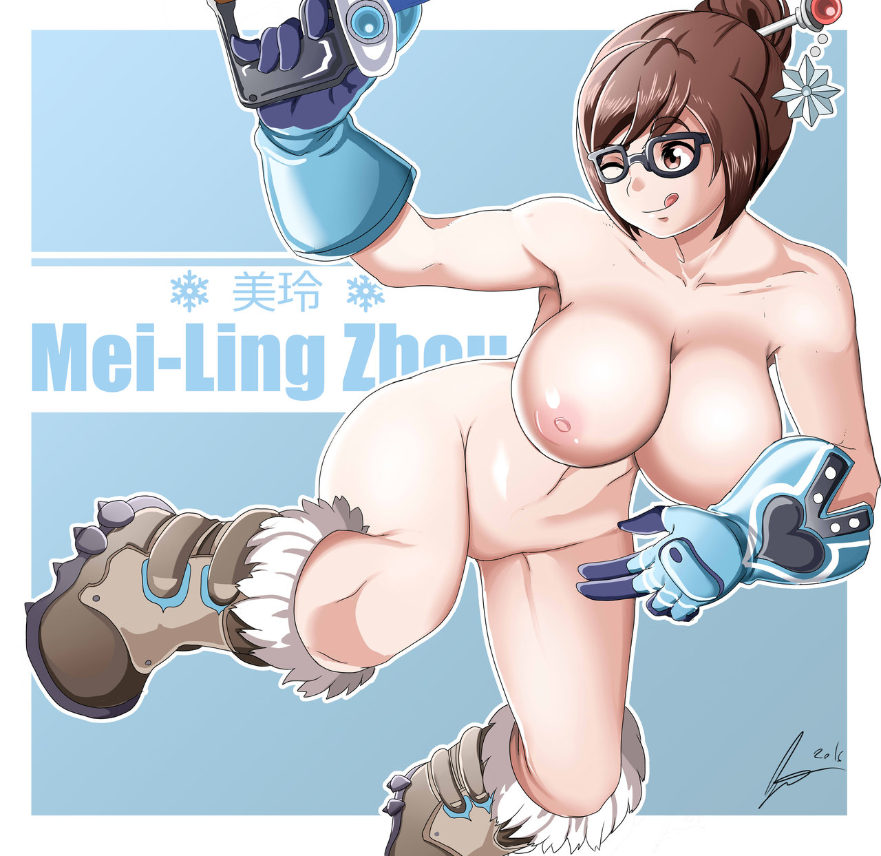 Big Boobs Mei Ling On Ice
