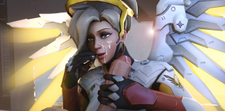 Cute Mercy With Jizz On Face