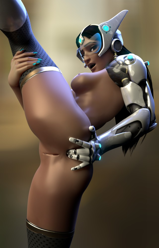 Flexible Symmetra Shows Ass and Pussy