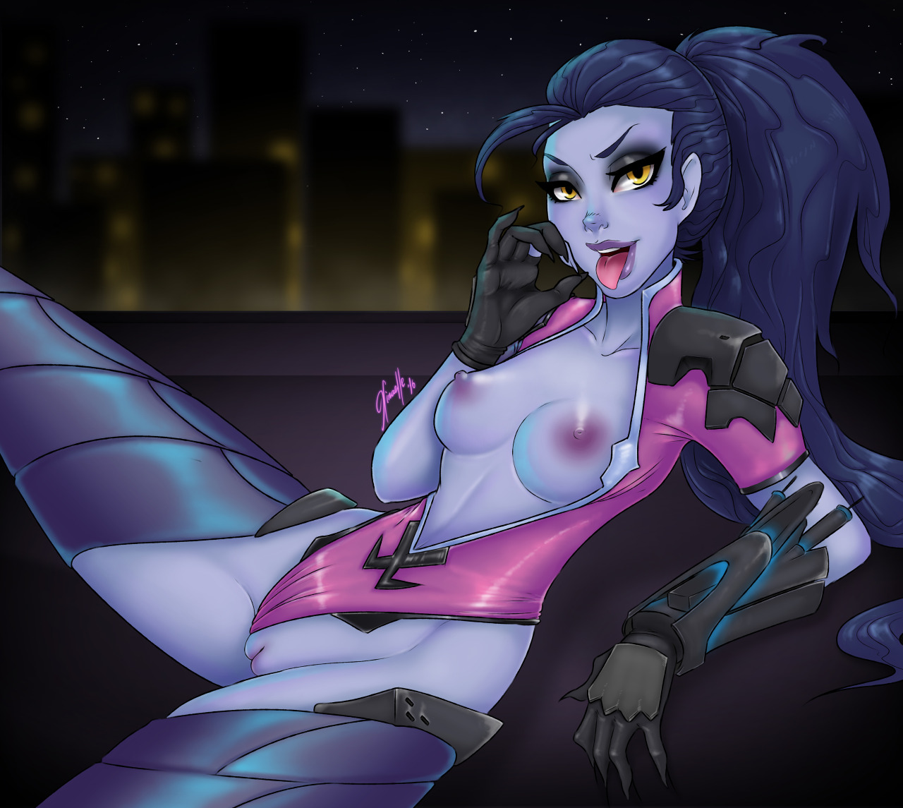 Naughty Widowmaker With Busty Tits
