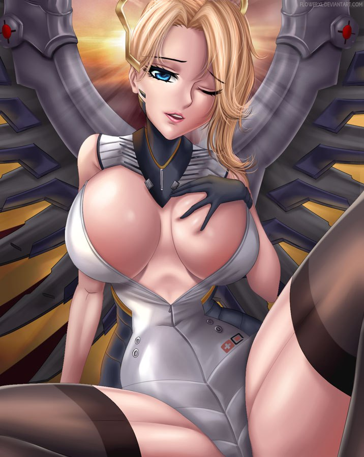 sexy and big boobs mercy