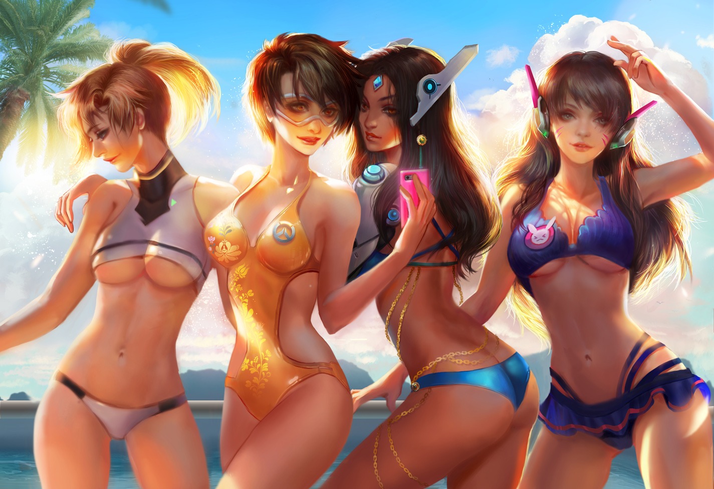 Sexy Overwatch Babes at the Beach