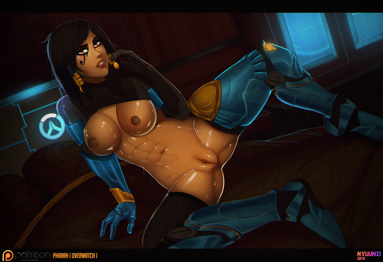 Sexy Pharah With Big Tits and Shaved Pussy