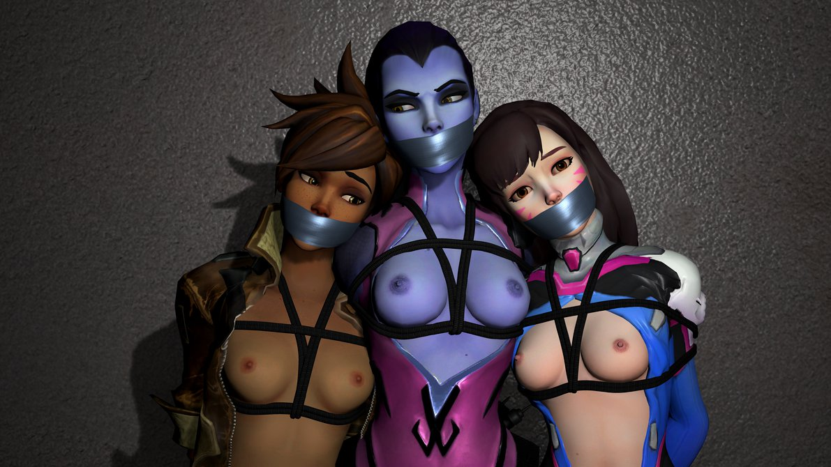 Tracer, Widowmaker and D.Va Tied and Gagged