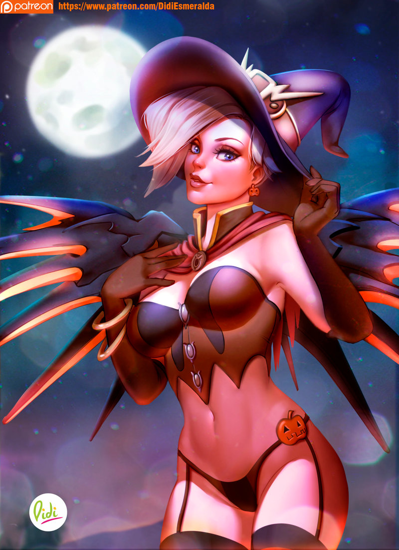 Busty Halloween Mercy