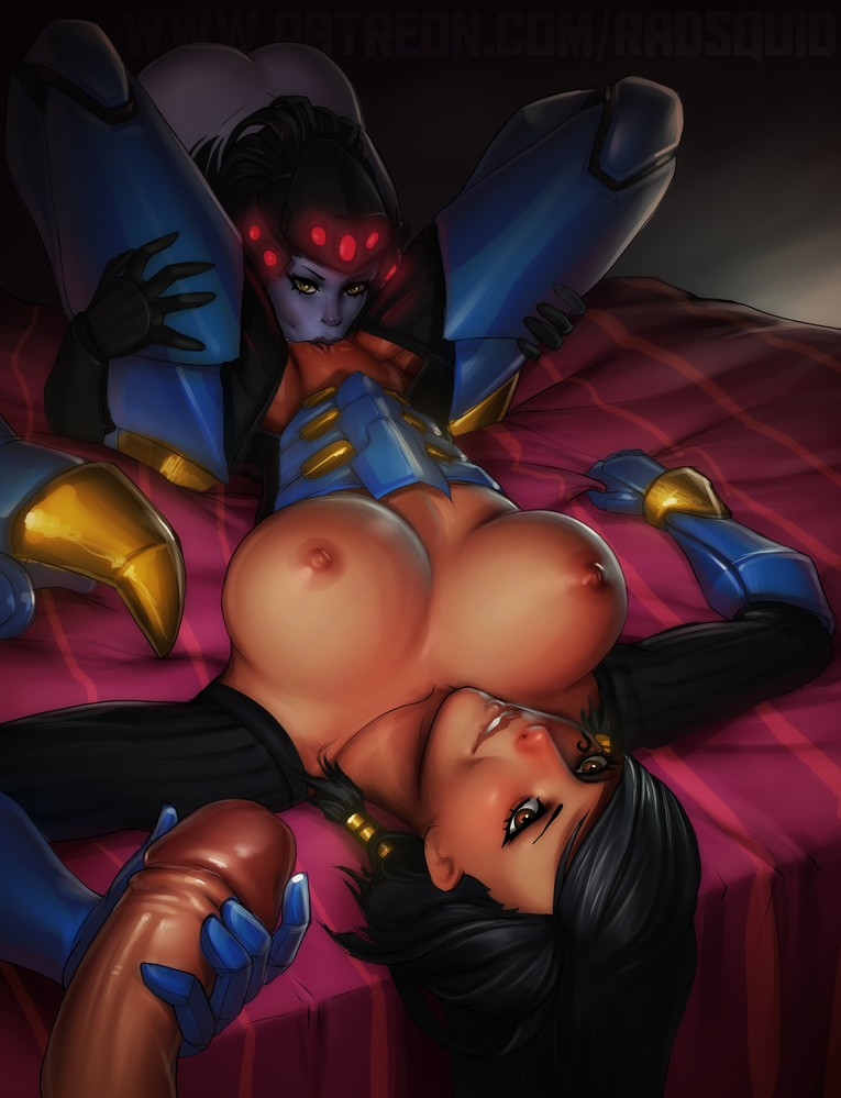Pharah and Widowmaker Threesome ART