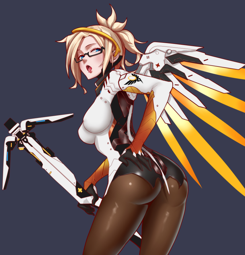 Sexy Ass Mercy With Glasses