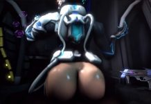 Overwatch Sombra fucks a big black cock