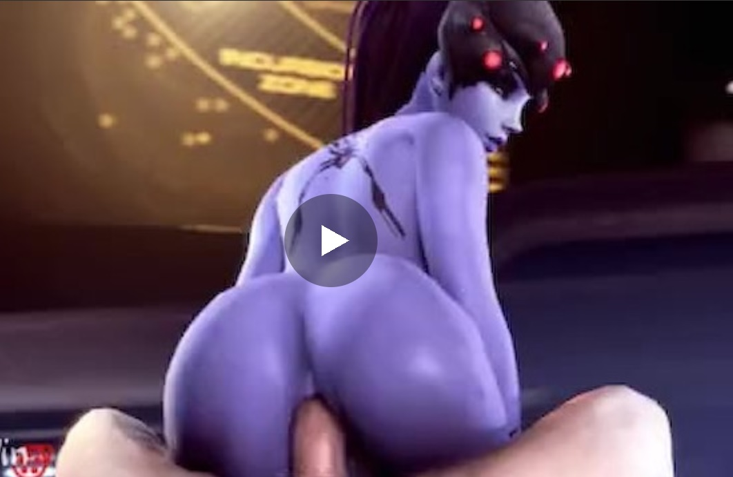 Overwatch Widowmaker Gets Her Blue Booty Rammed -2223
