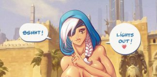 Overwatch Ana RIding Cock