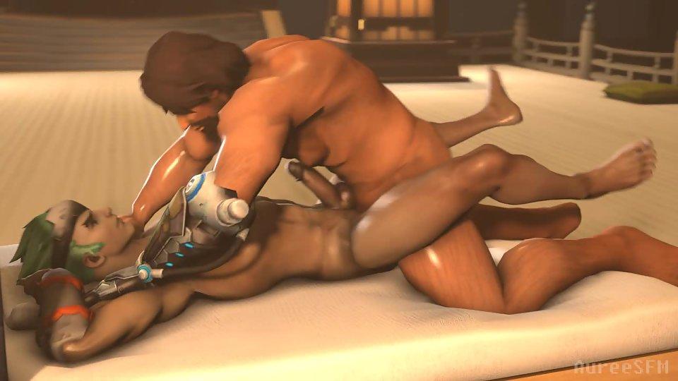 Hanzo and McCree fuck Genji Overwatch gay