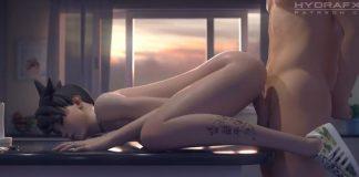 Overwatch Tracer Fucked in Kitchen porn clip